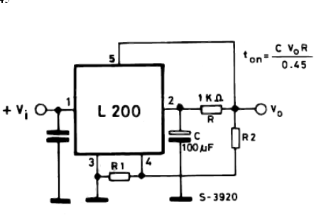 SOFT START MECHANISM FOR L200 VOLTAGE REGULATOR ELECTRONIC