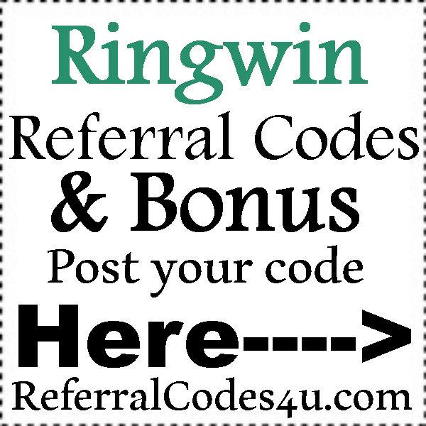 Ringwin App Invitation Codes 2016-2017, Ringwin App Refer A Friend, Ringwin Bonus Codes