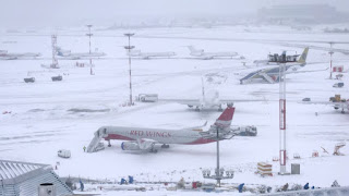 Moscow airports snowfall