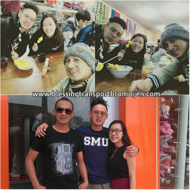 Warren Goh and Chermaine (SG), transport from Surabaya to Malang-Mount Bromo-Ijen Crater tour. December 12th to 14th, 2016