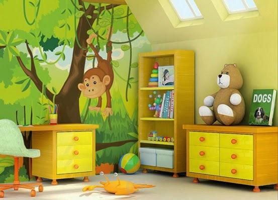 decoracin de jungla para el dormitorio infantil with decoracion habitacion infantil nio