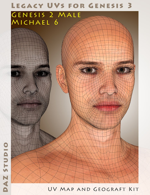Legacy UVs for Genesis 3: Genesis 2 Male and Michael 6