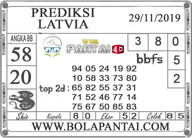 PREDIKSI TOGEL LATVIA PANTAI4D 29 NOVEMBER 2019