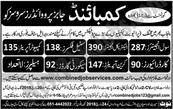 Combined Jobs Providers Services CJPS 11 March 2018
