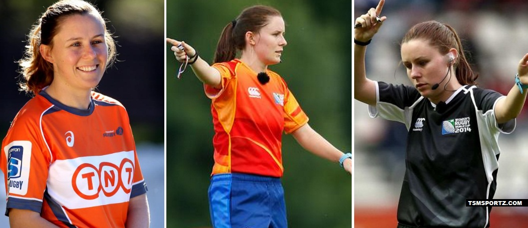 Amy Perret referee female in super rugby league