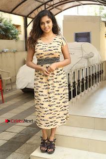 Telugu Actress Karunya Chowdary Stills in Short Dress at ATM Not Working Press Meet  0281.jpg