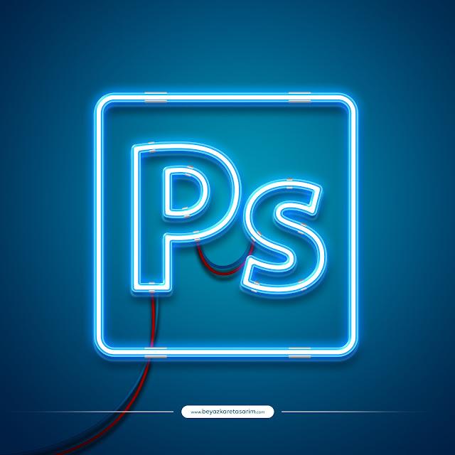 3D logo tasarımı modern neon