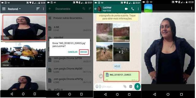 Whatsapp: Função de fotos com qualidade.