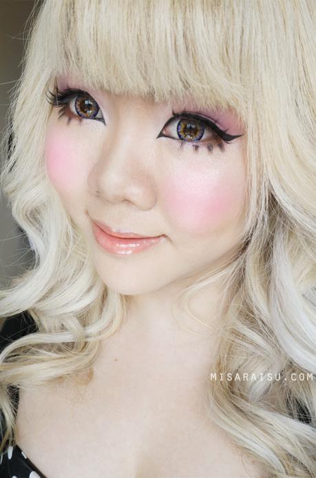 gyaru makeup tutorial canmake candydoll