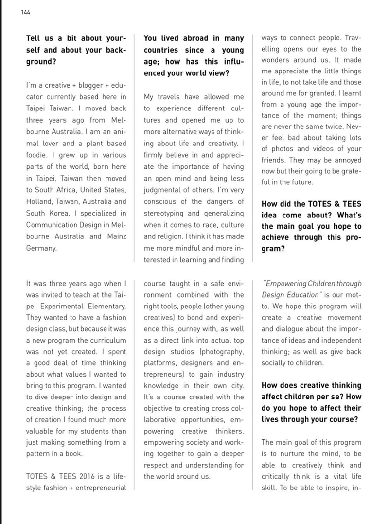 abook magazine issue 27 interview hey liao abook magazine please the interview from top left right then bottom left right