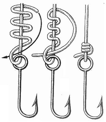 there are many ways to tie a knot on hook. here is one