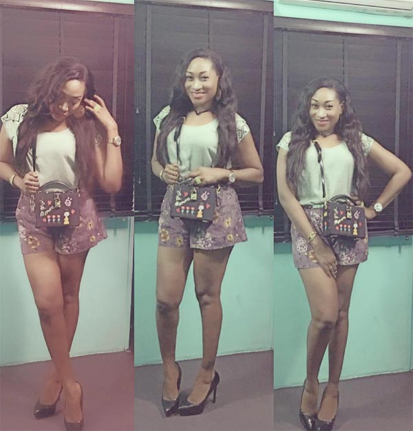 Oge Okoye slaying in shorts and high heels