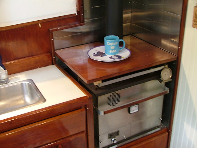 Counter top over diesel stove