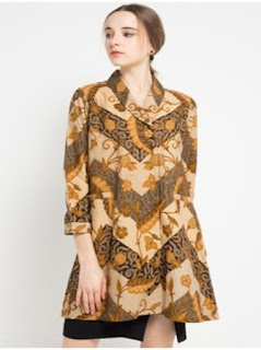 gambar baju atasan batik kerja wanita