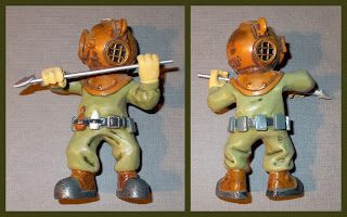 80mm Figurine, Bear in Diving Suit, Cartoon Bear, Deep Sea Diver, Deep Sea Divers, Diver Figures, Diver Figurines, Diving Bear, Fish Tank Ornament, Plastic Diver Ornament, Plastic Novelty, Polyurethane Resin, Poured Resin Casting, PU Resin, Small Scale World, smallscaleworld.blogspot.com, Toy Divers,