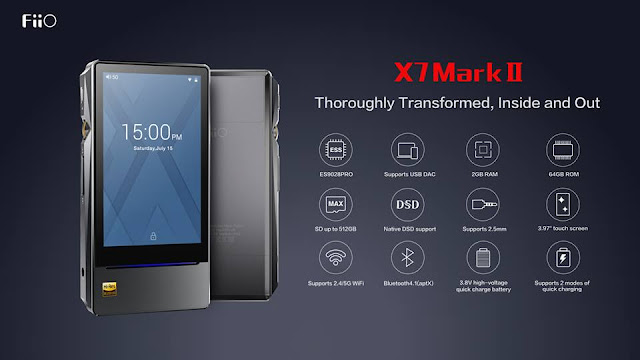 【FiiO X7 MK2】FiiOからES9028PRO搭載の最新フラグシップモデルDAP、FiiO X7 MK2が発表。699ドルで販売予定