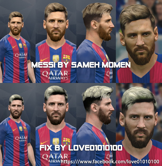 PES 2017 Messi Face by Sameh Momen New fix by love01010100