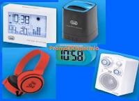 Logo Vinci gratis 1  Radio Portatile, 1 Meteo Station, 1 Cassa Bluetooth portatile, Cuffie e una Sveglia Digitale 3870