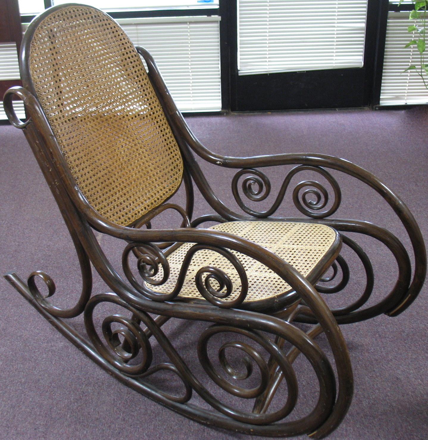 bent wood rocking chair exhibition stand the craftsman bentwood rocker gets a new fancy weave