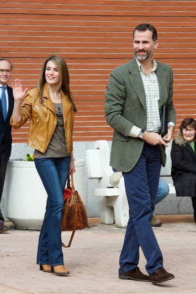 Queen Sofia of Spain, Prince Felipe and Princess Letizia, Princess Cristina of Spain visited King Juan Carlos