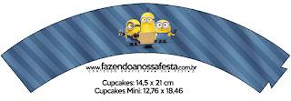 Wrappers para cupcakes de Película de los Minions