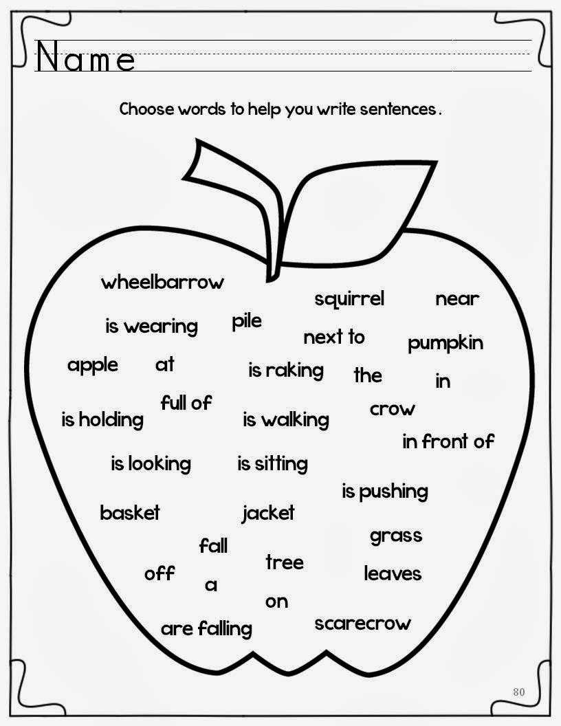 teaching 1st graders to write a sentence