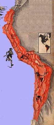 Dibujo del mapa de los cuatro Suyos a color