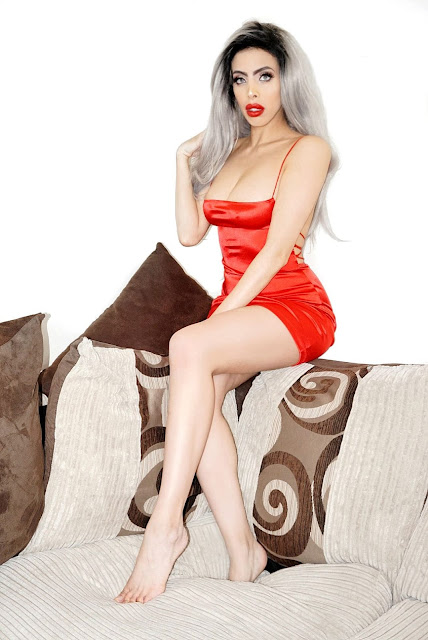 Kozue Mini Dress in Red by motelrocks.com