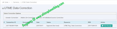 JAMB UTME Data Correction Page