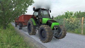 Tractor with Trailers in Traffic Mod v3.6