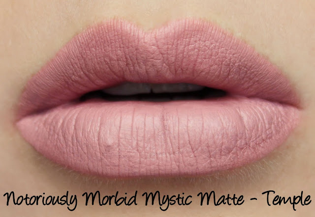Notoriously Morbid Mystic Matte - Temple Lipstick Swatches & Review