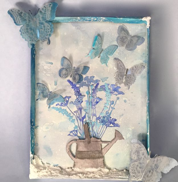 Frosted Butterflied Mixed Media piece