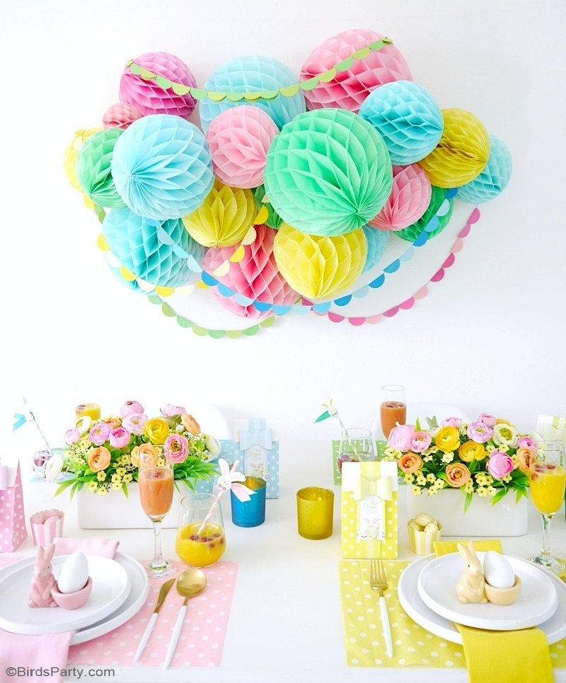 My Pastel Easter Brunch Tablescape Party Ideas Party Printables Blog