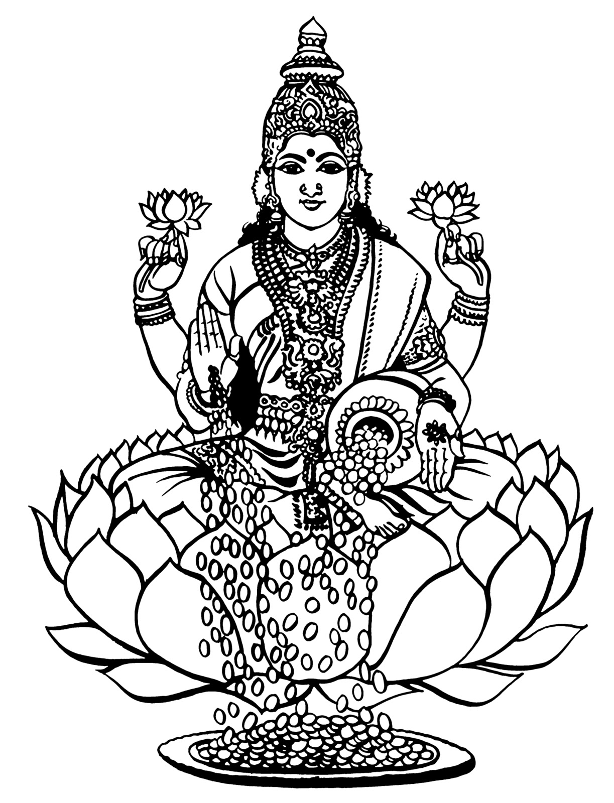 Lakshmi bhu coloring page coloring pages for Lakshmi coloring pages