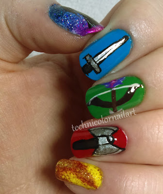 gauntlet nail art