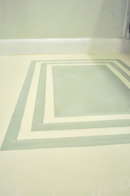 Add a painted rug to your floor