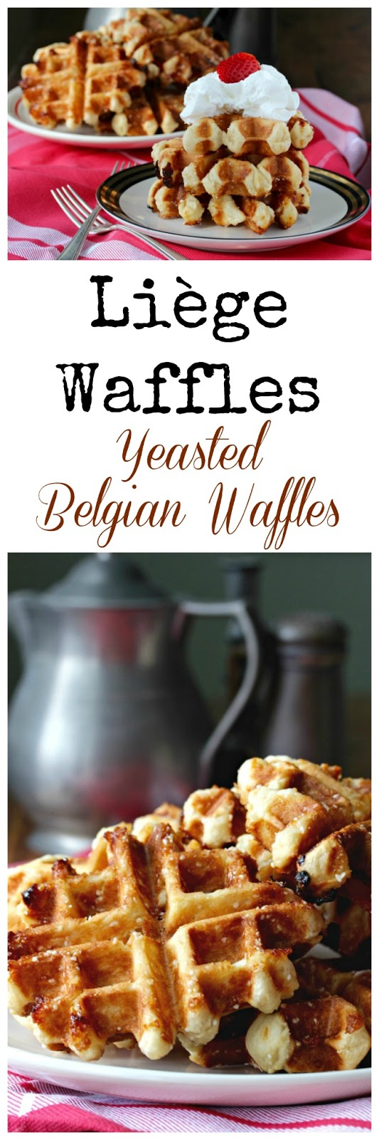 Liège Waffles are a sweet, chewy, butter, thick waffle make with brioche-like yeasted dough