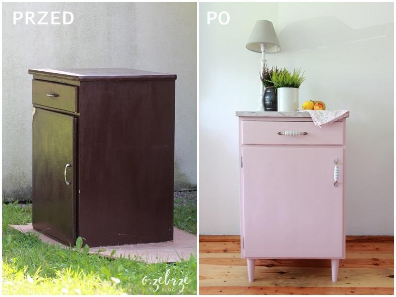 pastelowa szafka