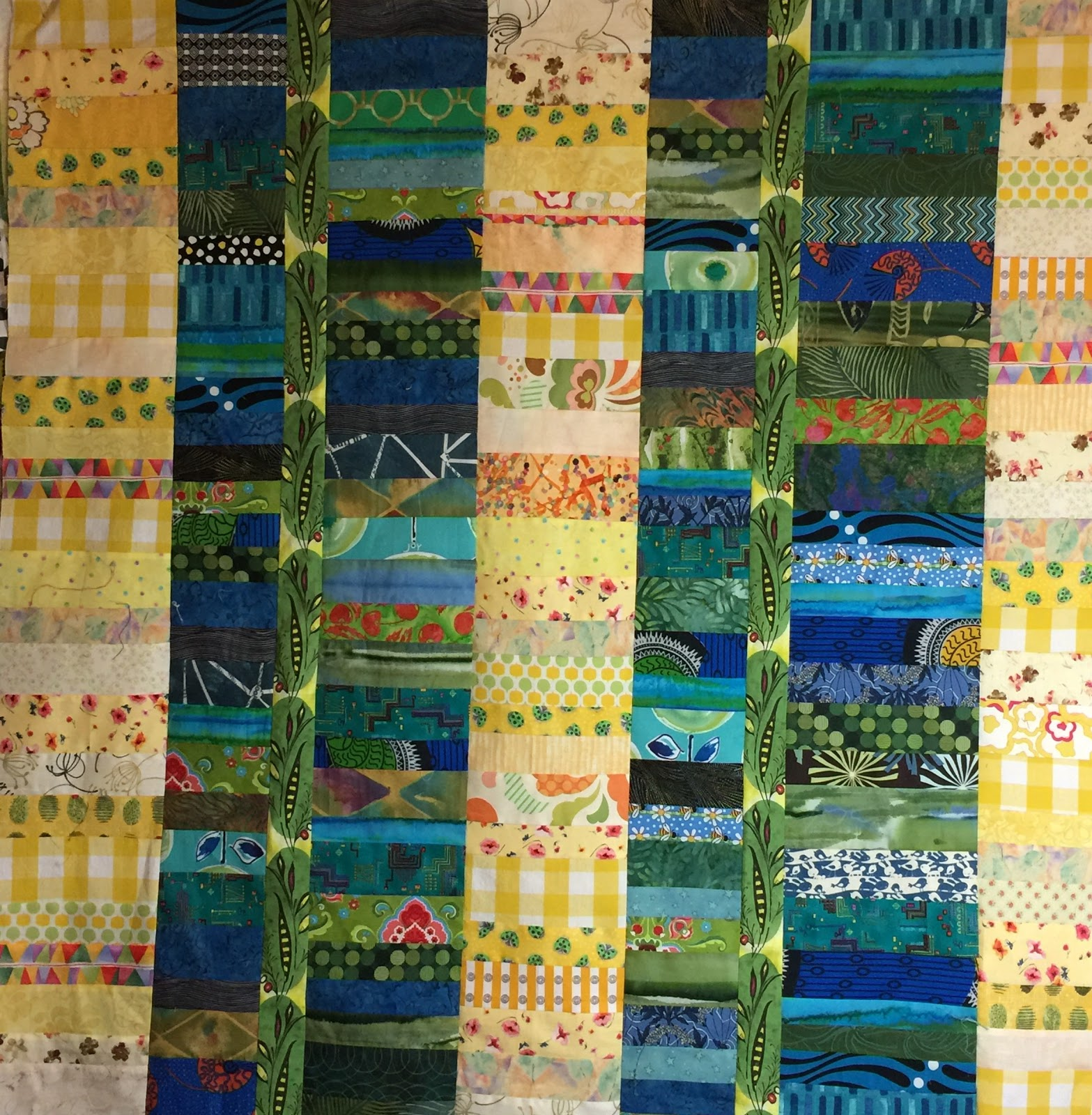chinese coin ix quilt top