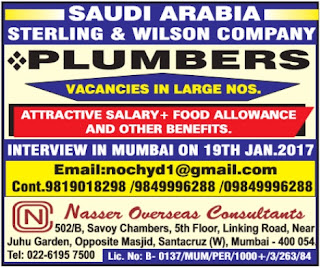 Sterling and Wilson company jobs in Saudi Arabia