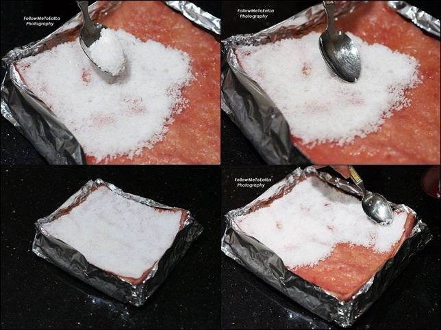 Spread A Layer Of Salt & Pat Flat To Cover The Surface Well