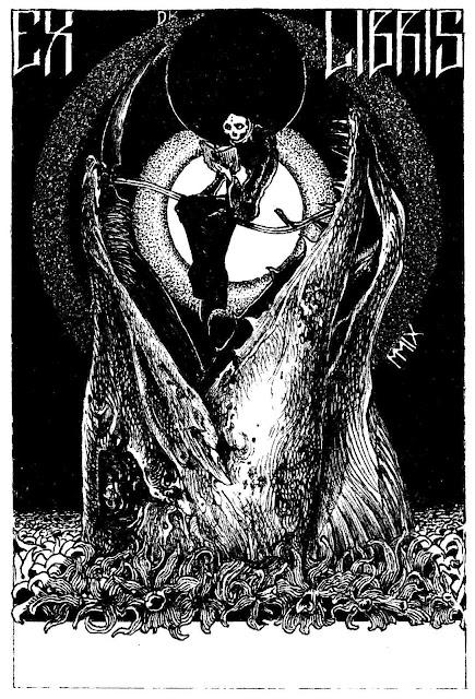 Denis Kostromitin bookplate, large illustration