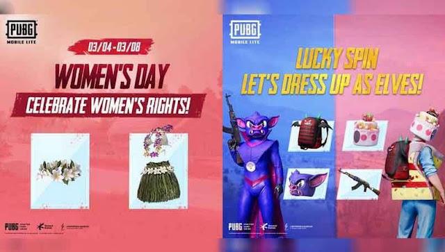 PUBG Mobile Lite, Kadınlar Günü özel etkinliğini getiriyor ve şanslı bir dönüş sunuyor