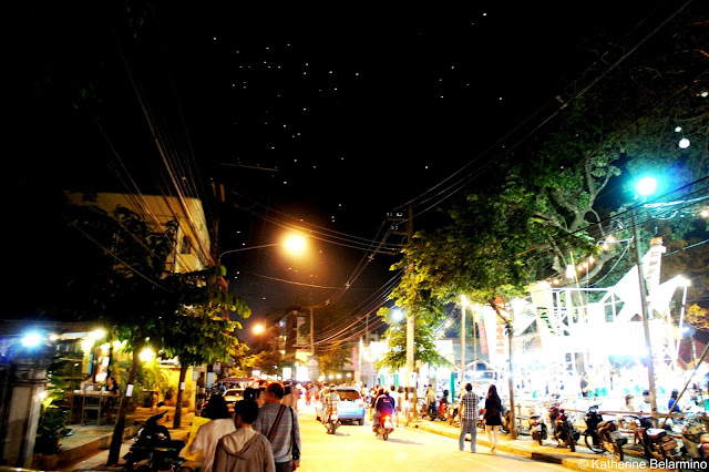 Streets of Chiang Mai During Yee Peng Floating Lantern Festival Thailand