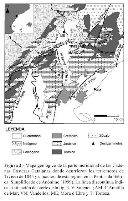 Terremoto de Tivissa (Tarragona) de 1845.