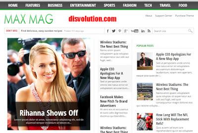 Template Max Mag terbaru 2017 Download Gratis