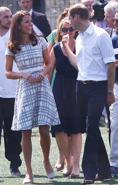 107b5fae058 At the reception for the opening ceremonies the Duchess wore an ice blue  coat ensemble by Christopher Kane. Simple lines fitted well to her slender  figure ...