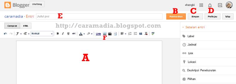 cara mudah posting artikel blog untuk blogger pemula