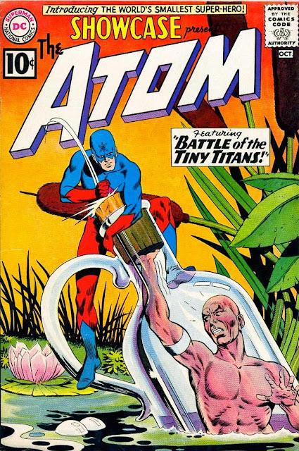 Showcase v1 #34, 1961 dc silver age comic book cover - 1st Atom