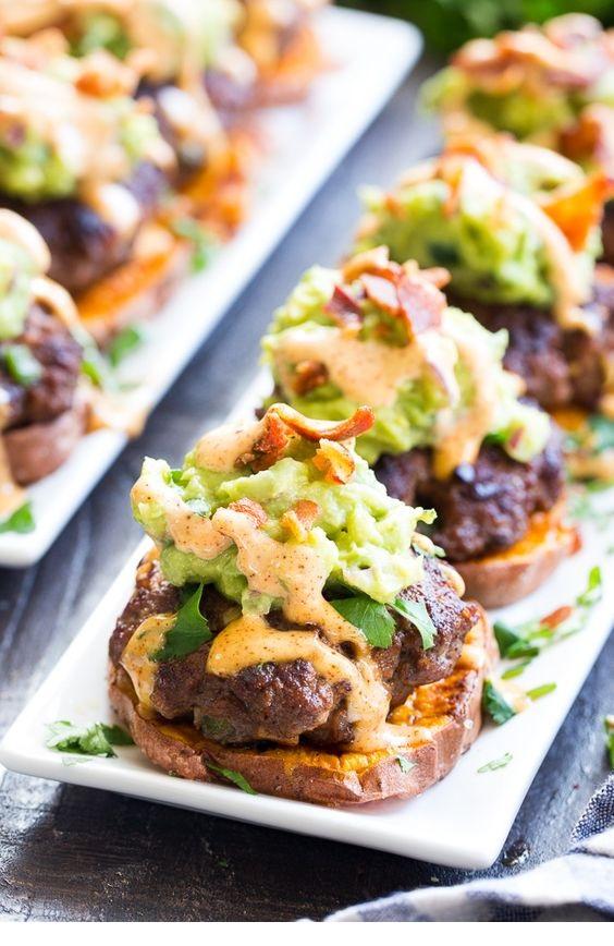 Loaded Taco Sweet Potato Sliders